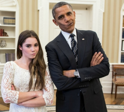 "Mc Kayla Maroney and Barack Omaba: ""Not impressed"""